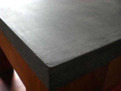 Beton Cire Arbeitsplatte holztischplatte mit beton cire rob concrete design