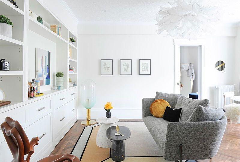 Светлая квартира с пастельной кухней в Ванкувере (60 кв. м ...
