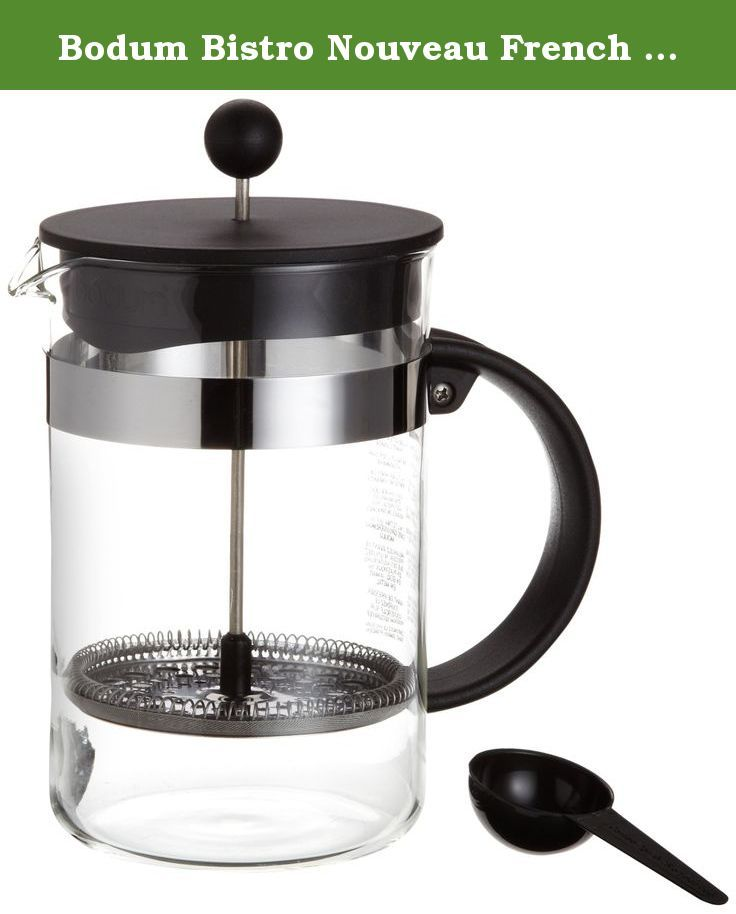 Bodum Bistro Nouveau French Press Coffee Maker 12 Cup 51 Ounce As The Name Indicates Bistro Nouv French Press Coffee French Press Coffee Maker Coffee Maker