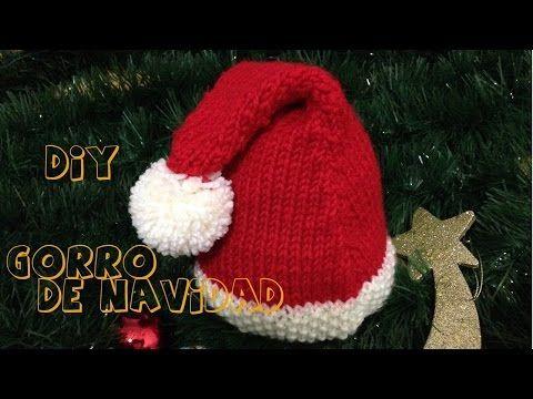 Gorros de Navidad para tejer en crochet, dos agujas y telar / 5 ...