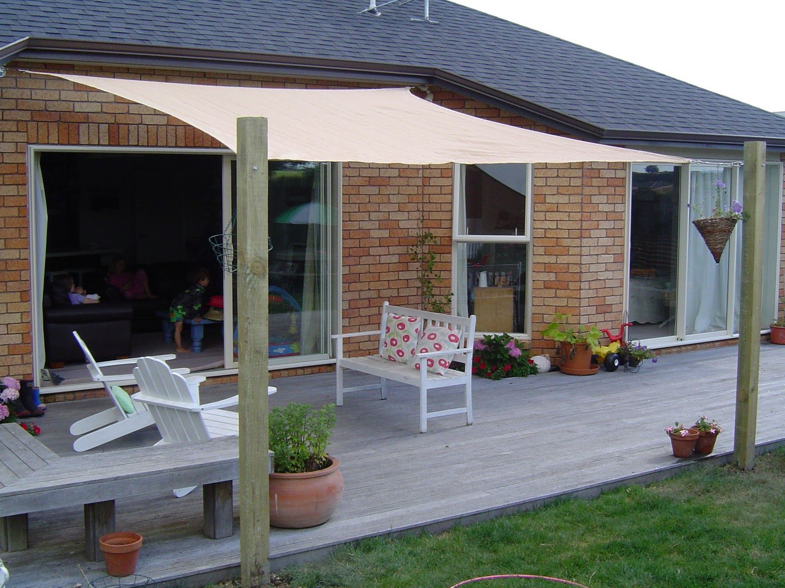 Great Completely Cottage: Another Little Project.... Outdoor Shade, Deck Shade,