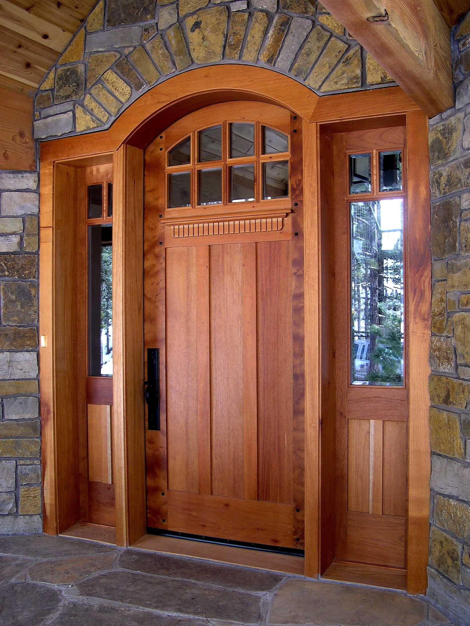 Craftsman front door with sidelights - Craftsman Front Doors For Homes Custom Contemporary Craftsman Entrance Entry Door Plank Style Beveled Custom