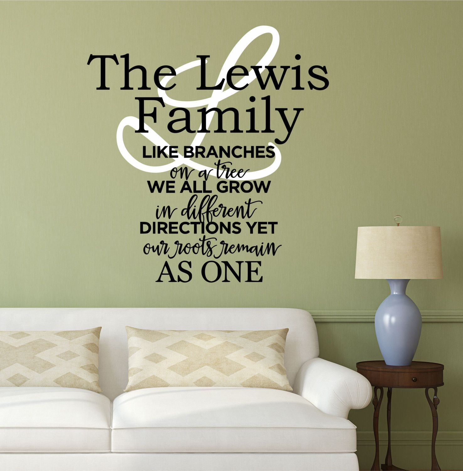Wall Lettering Your Custom Saying Personalized Vinyl Wall Decal