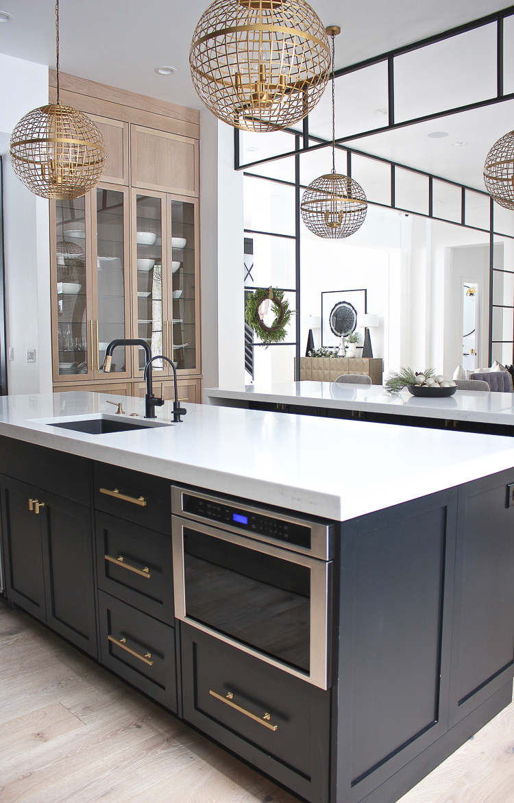 The Forest Modern Christmas Home Tour The Kitchen The House Of Silver Lining Modern Kitchen Design Modern Kitchen Modern Farmhouse Kitchens