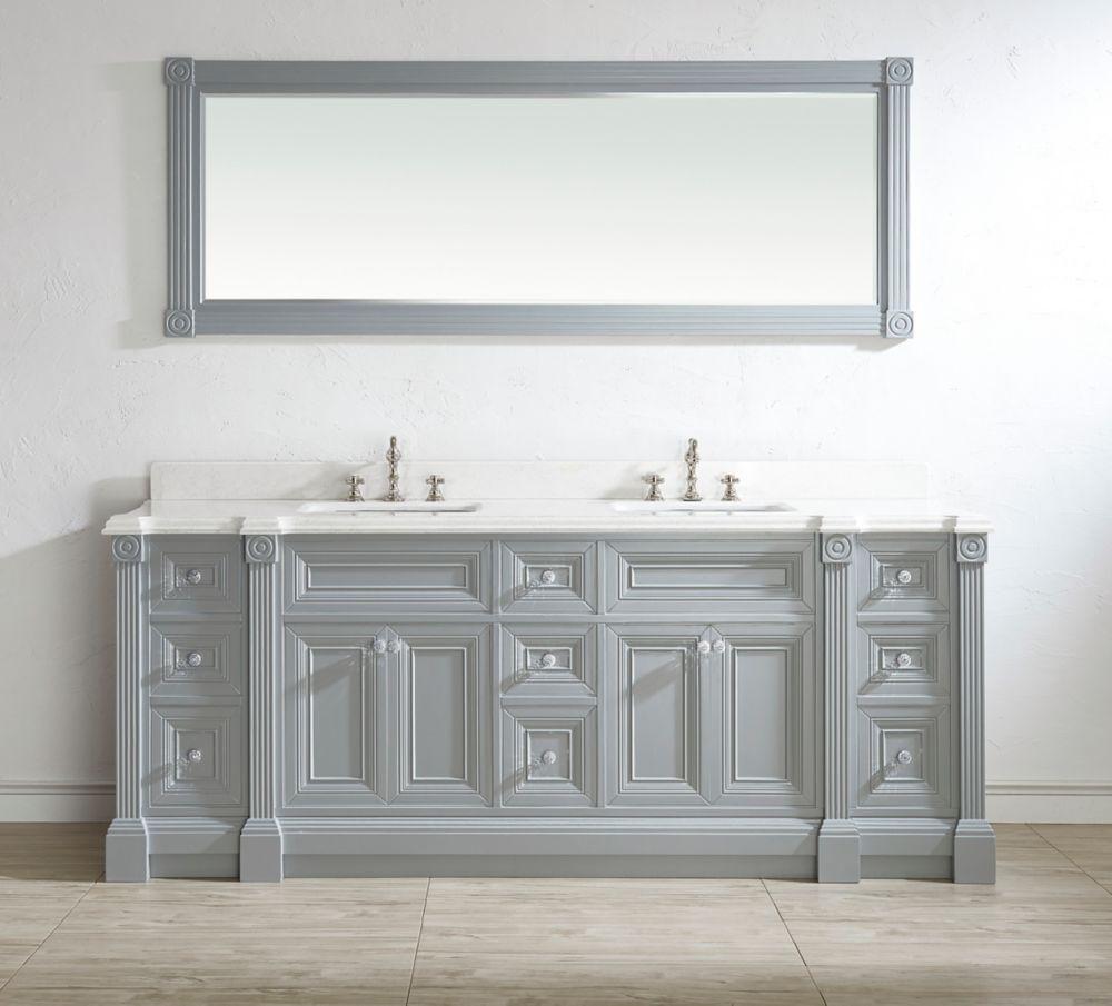 Athena 84 Oxford Gray Double Sink Bathroom Diy Bathroom Vanity