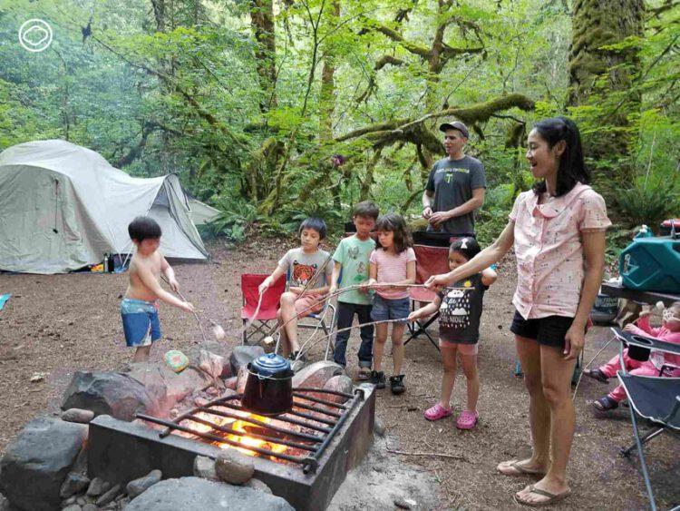 ว ถ Camping แบบ Camper อเมร ก น และว ธ เล อกอ ปกรณ หน ร อนไปนอนป า แคมป ง แบบ เต นท