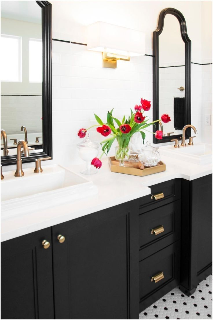 Pin by Suzy F on Bathrooms | Pinterest | Black cabinets bathroom ...