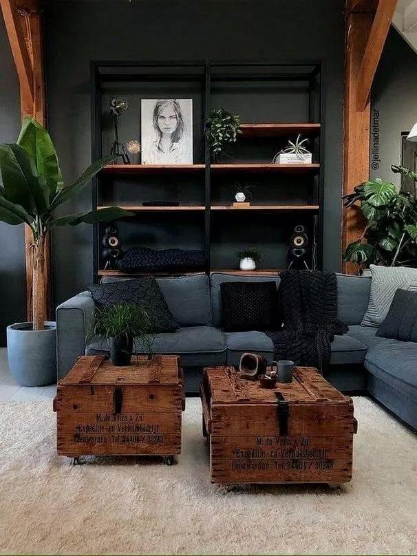 industrial decor #homedecor 14+ Cozy Small Living Room Decor Ideas For Your Apartment - lmolnar