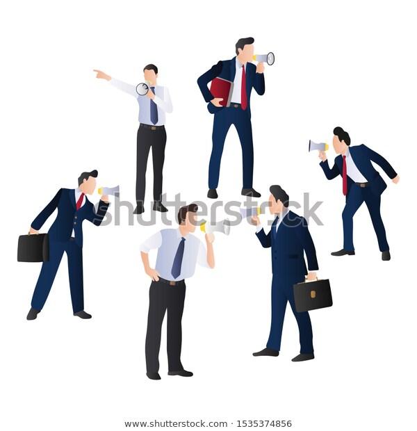 Marketing Employee Megaphone Businessman People Speaking Stock Image Download Now People Illustration Man Illustration Business Man