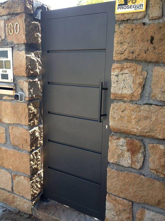 Puertas de patio de servicio de herreria buscar con for Puertas metalicas modernas