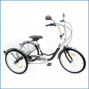 10. Komodo Cycling ATRAVEN 24″, 6-speed Adult Tricycle