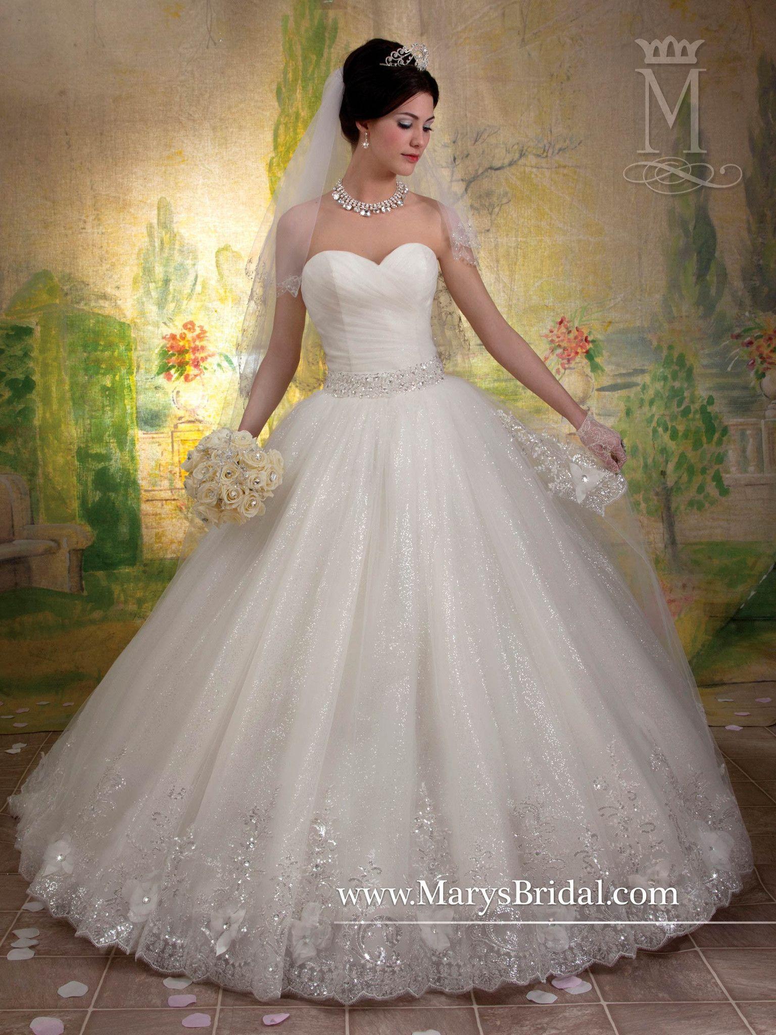 Sparkling tulle sweetheart ball gown weddings pinterest ball