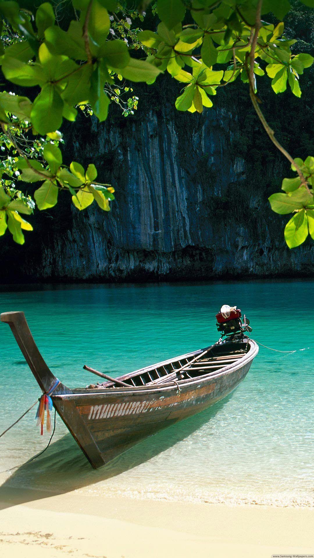 Wallpaper Full Hd 1080 X 1920 Smartphone Paradise Tropical Boat