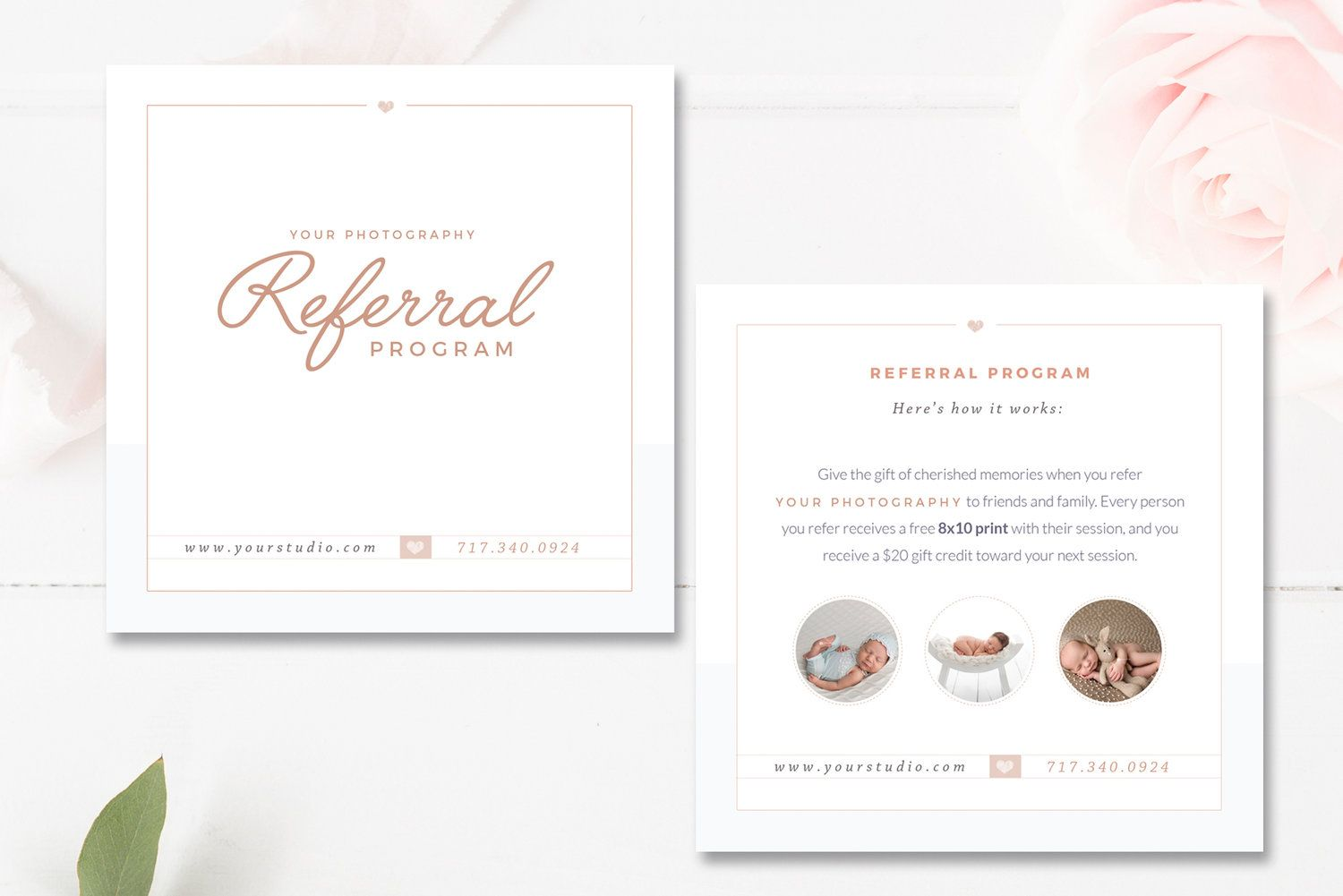 Photography Referral Card Templates Referral Program By Stephanie Design Card Templates Free Referral Cards Free Business Card Templates