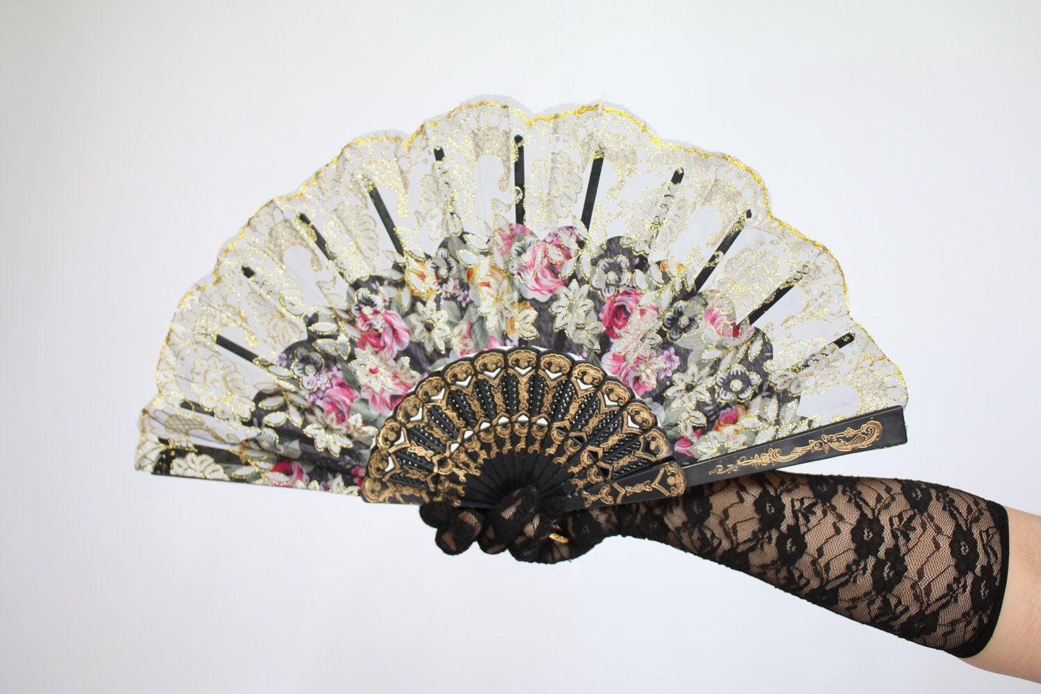 New Orleans Hand Held Fan(Wedding Fan Bride Bridal Spanish