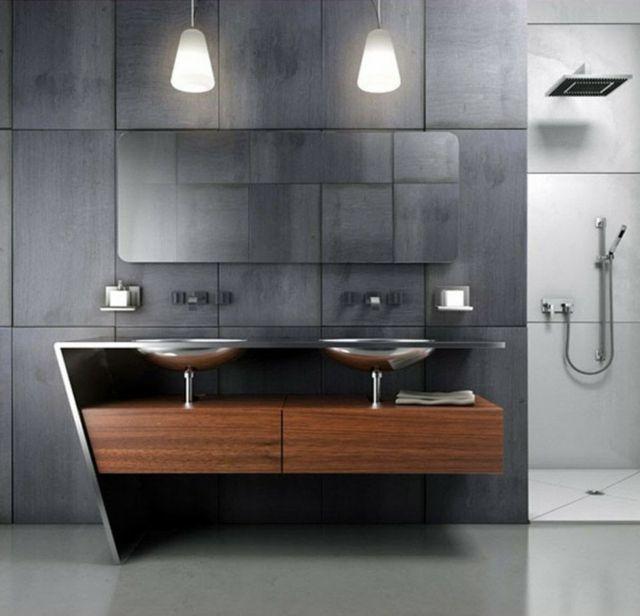 salle de bain moderne et trs design - Salle De Bain Design Contemporain