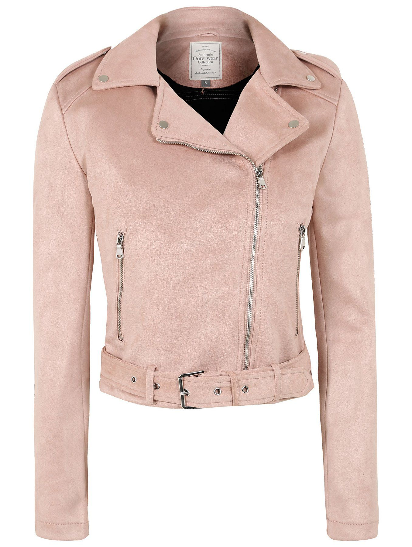 f61f282f6736d Pink Faux-Suede Biker Jacket | George at Asda | £30 | Style (Owned ...