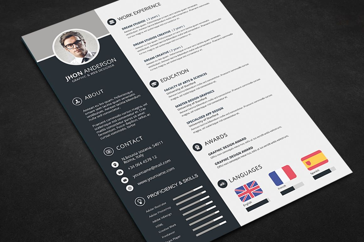 Free Resume Templates Creative Template Download Psd File For