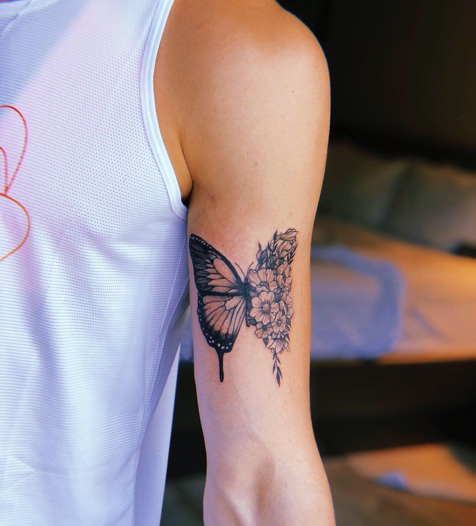 butterfly tattoo. Shawn Mendes Shawn mendes tattoos