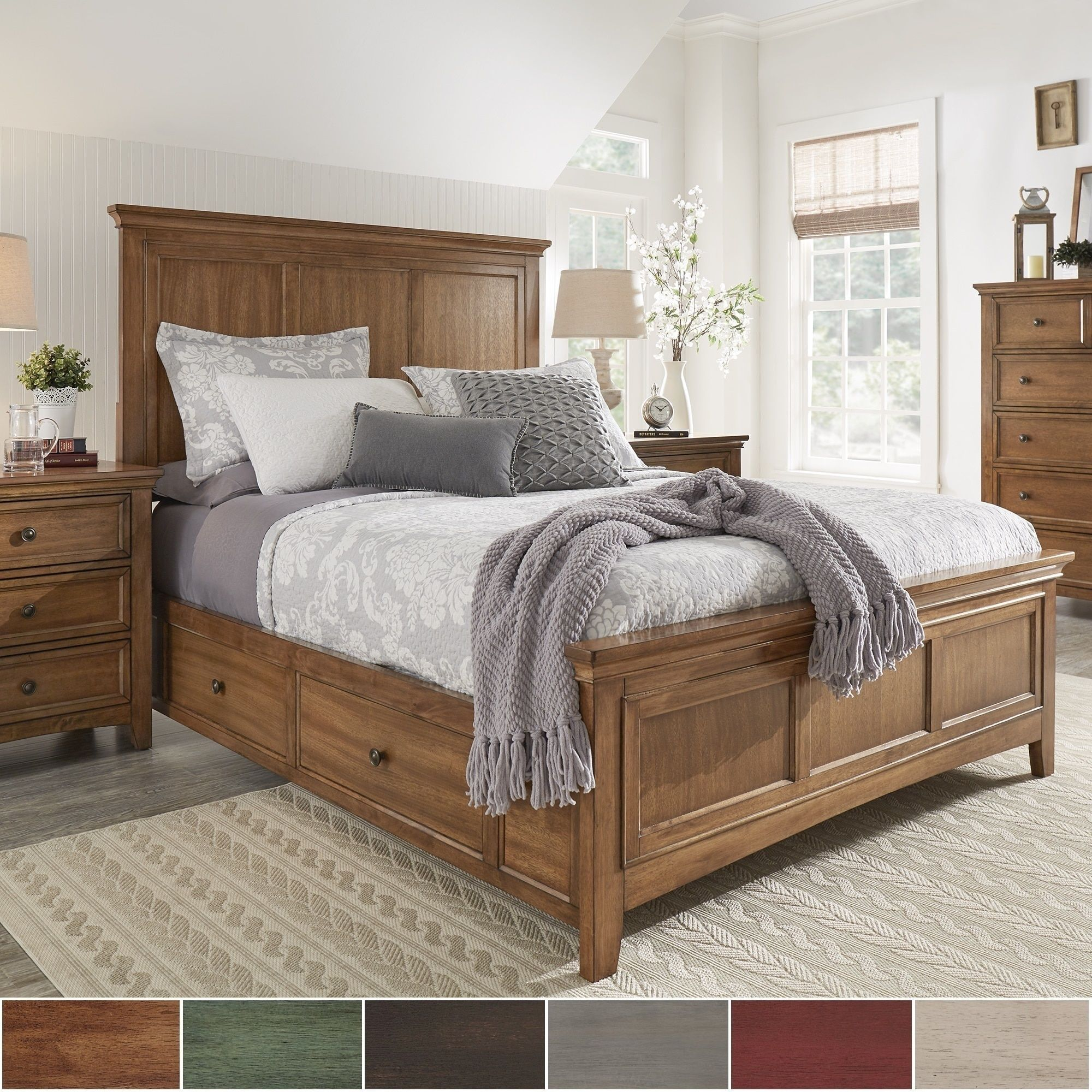 Ediline Size Wood Panel Platform Storage Bed by Tribecca Home