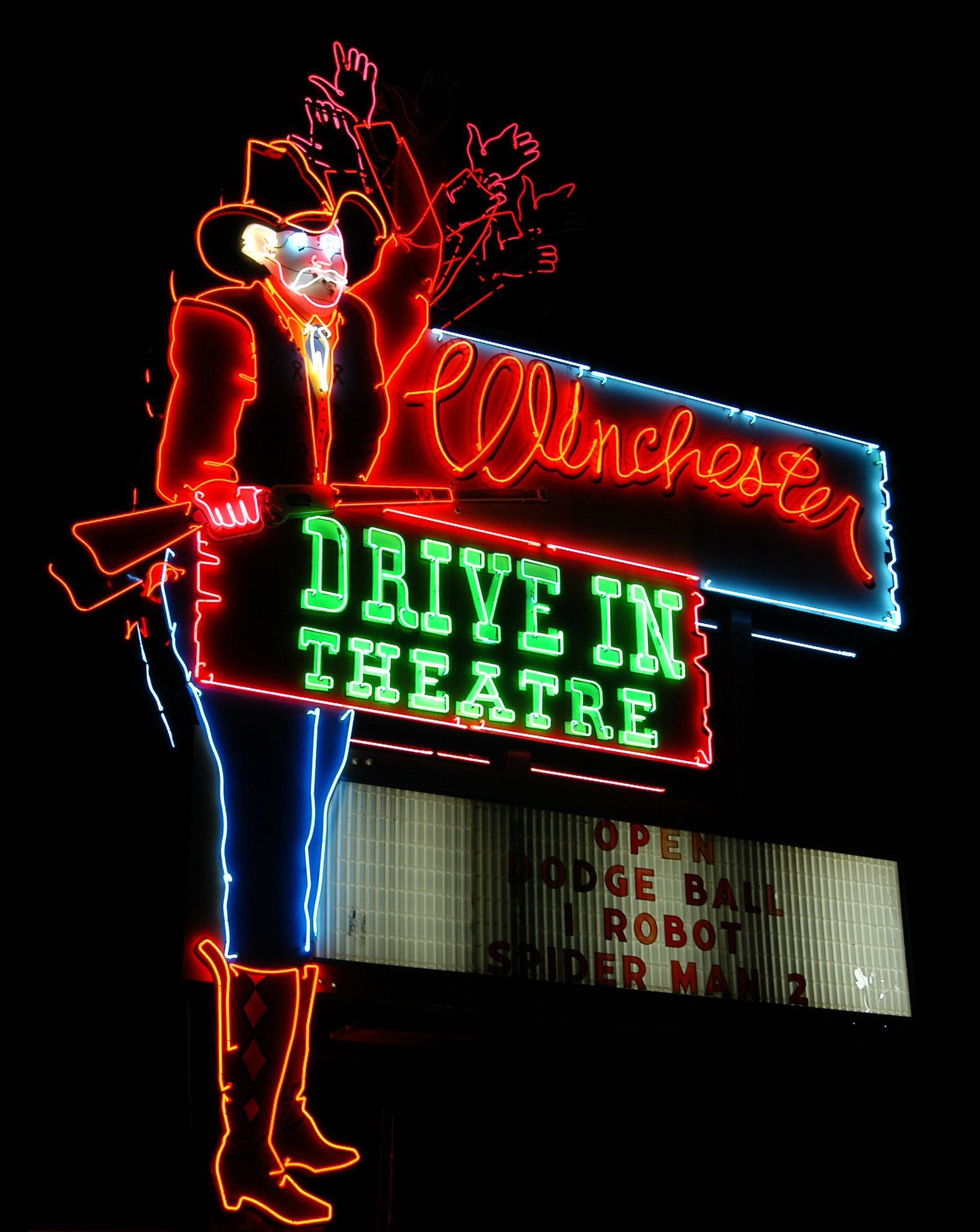 Winchester Drivein, OK in 2020 Old neon signs, Vintage