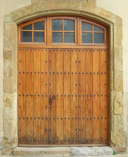 Door, 1803 doorway, la Bisbal d'Emporda, Catalunya, Spain