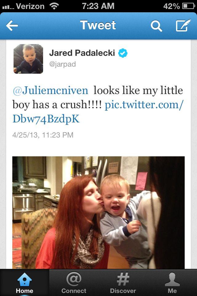 Awwwwwww!! :) Thomas has a crush on Julie lol