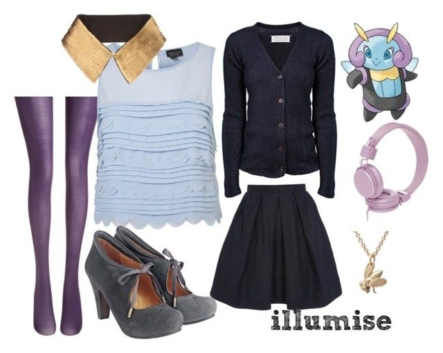 """illumise"" by carocake ❤ liked on Polyvore featuring Fogal, Carven, ASOS, Maison Margiela, Toast, Sakdidet Road, Urbanears and pokemon"