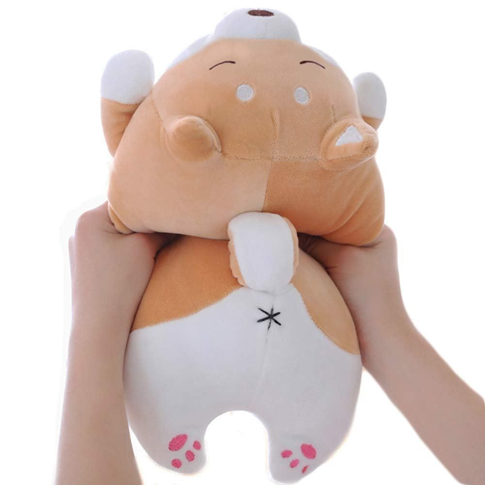 Shiba Inu Dog Plush Pillow Soft Cute Corgi Stuffed Animals Doll Toys Gifts For Valentine Christmas Birthday Bed Sofa Chair Brown Smiling Eye 13 5in Lo Corgi Stuffed Animal Animal Dolls