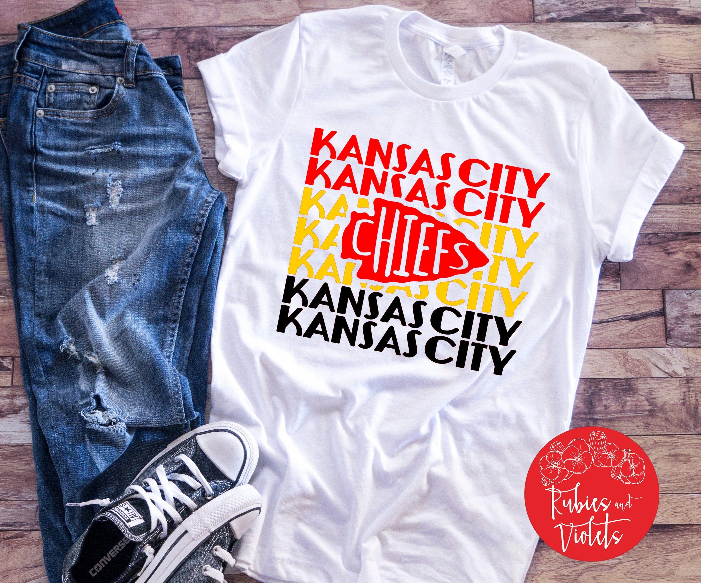 Chiefs Football Shirt/'Kansas City' with Chiefs Arrow Shirt/Raglan/Kansas City Chiefs Football Shirt/BLING KC Shirt/Raglan