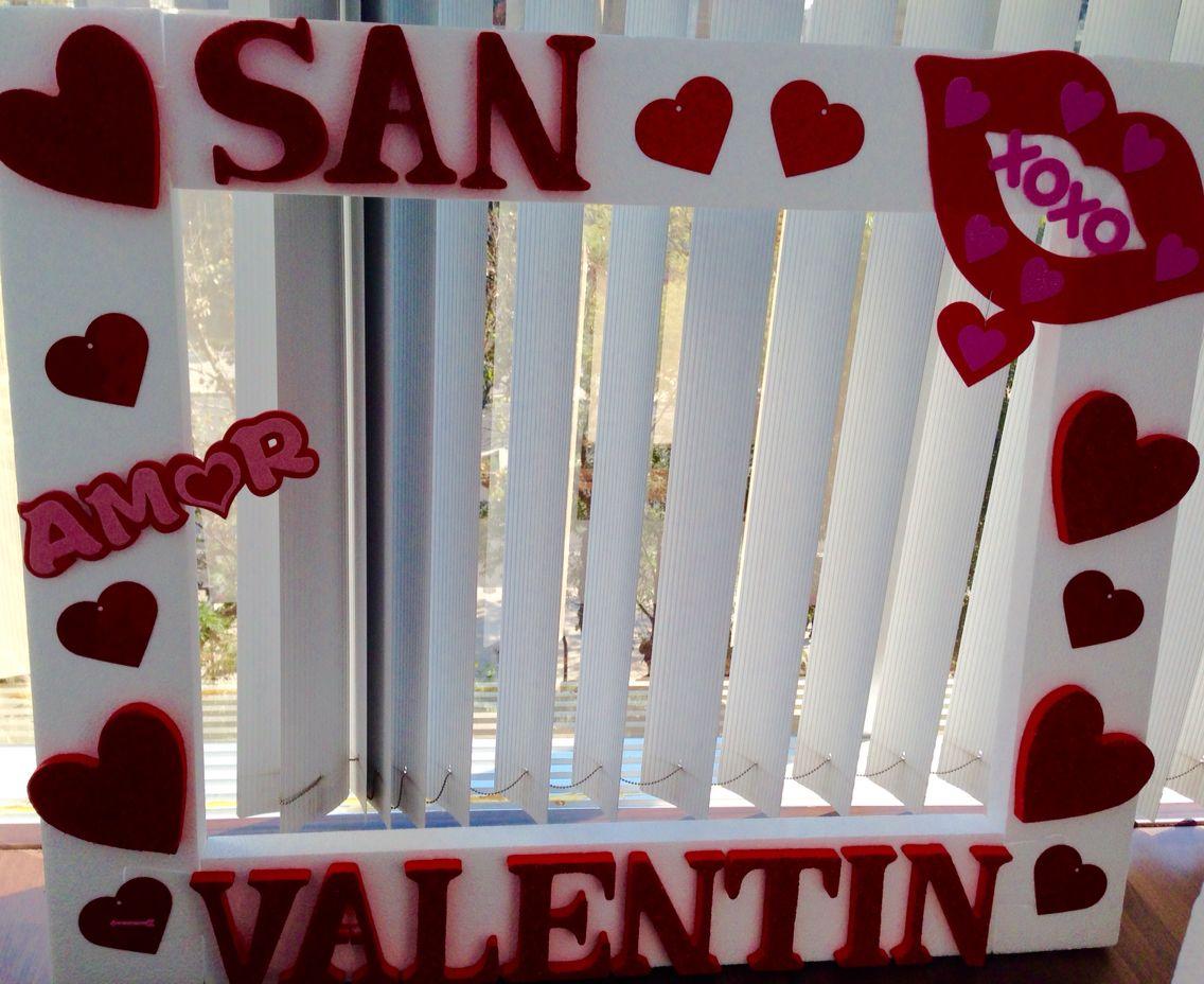 Marco para fotografías en eventos, temática san Valentín. Puede ser ...