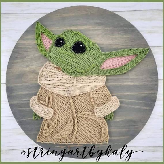 Baby Yoda Mandalorian String Art Wall Art