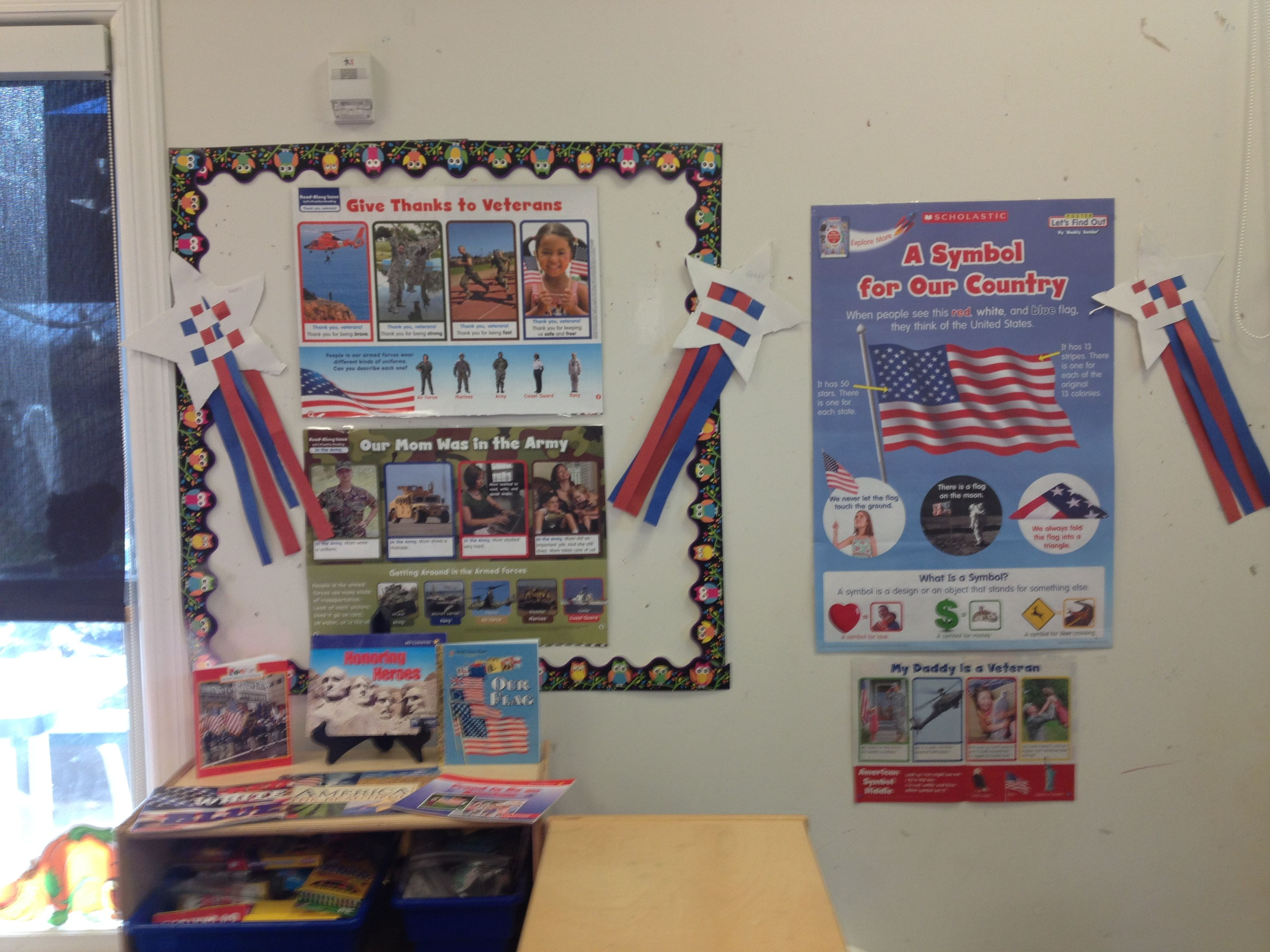 Preschool Veterans Day Display