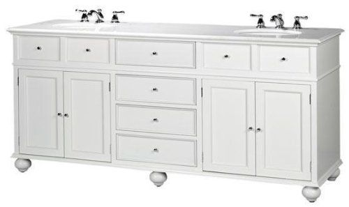 Hampton Bay Double Sink Cabinet Vanity With Granite Top White 35 H X 72 W X 22 D White Marble White Home Double Sink Cabinet White Bathroom Furniture Vanity