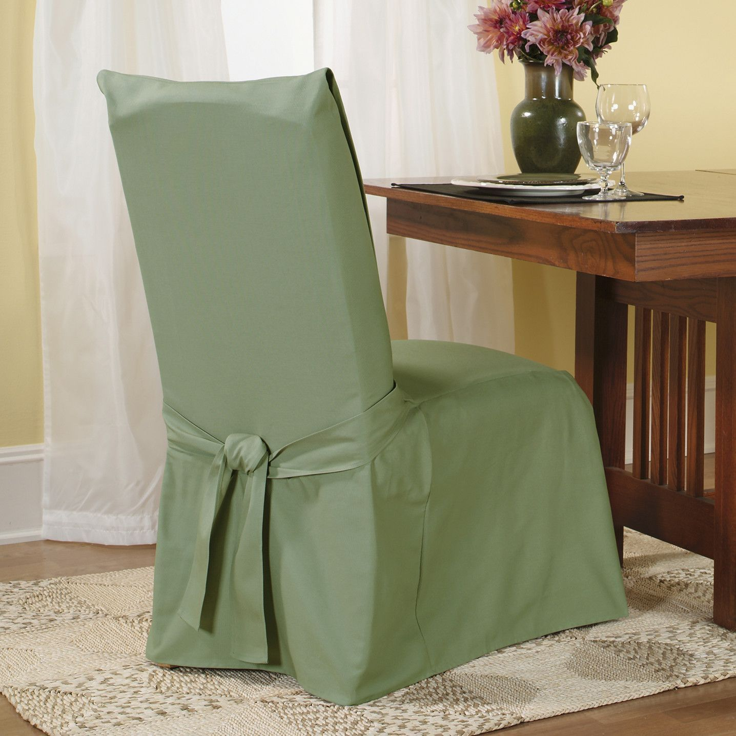 Chair Covers For Dining Room Classic Sure Fit Cotton Slipcover Set Of 4