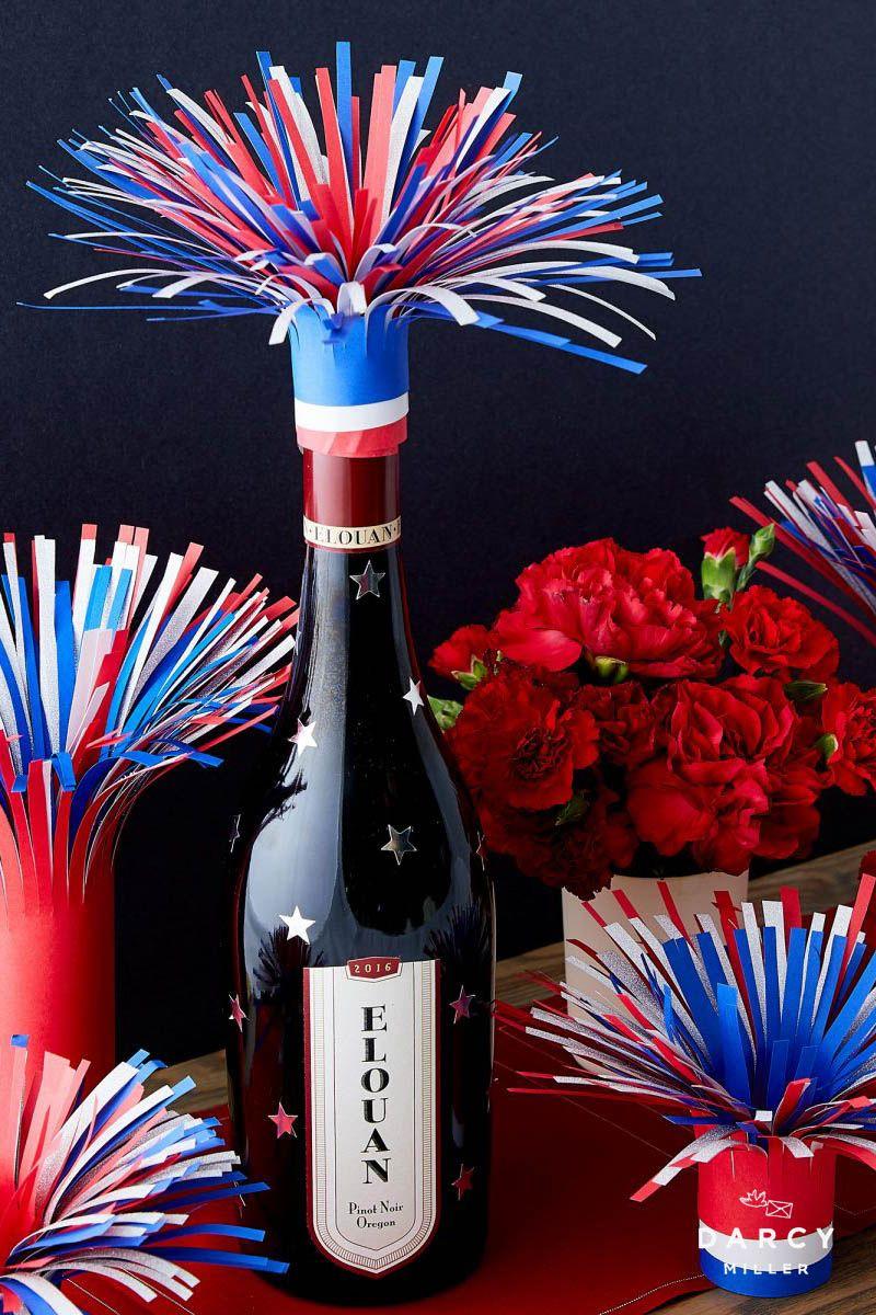 Firework Wine Bottle Topper Darcy Miller Designs Fireworks Wine Bottle Topper Bottle Toppers