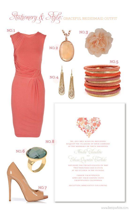 Stationery & Style: Graceful Bridesmaid Outfit #weddinginvitations