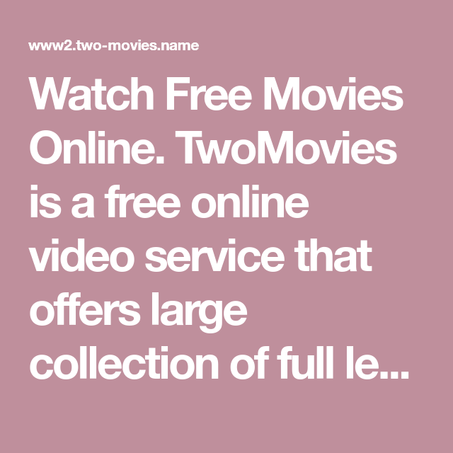 Full length movies video collections