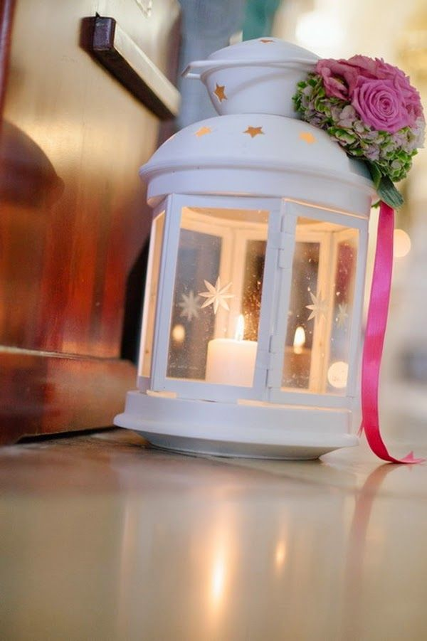 Come ti decoro le lanternine di ikea wed inspiration for Ikea portacandele