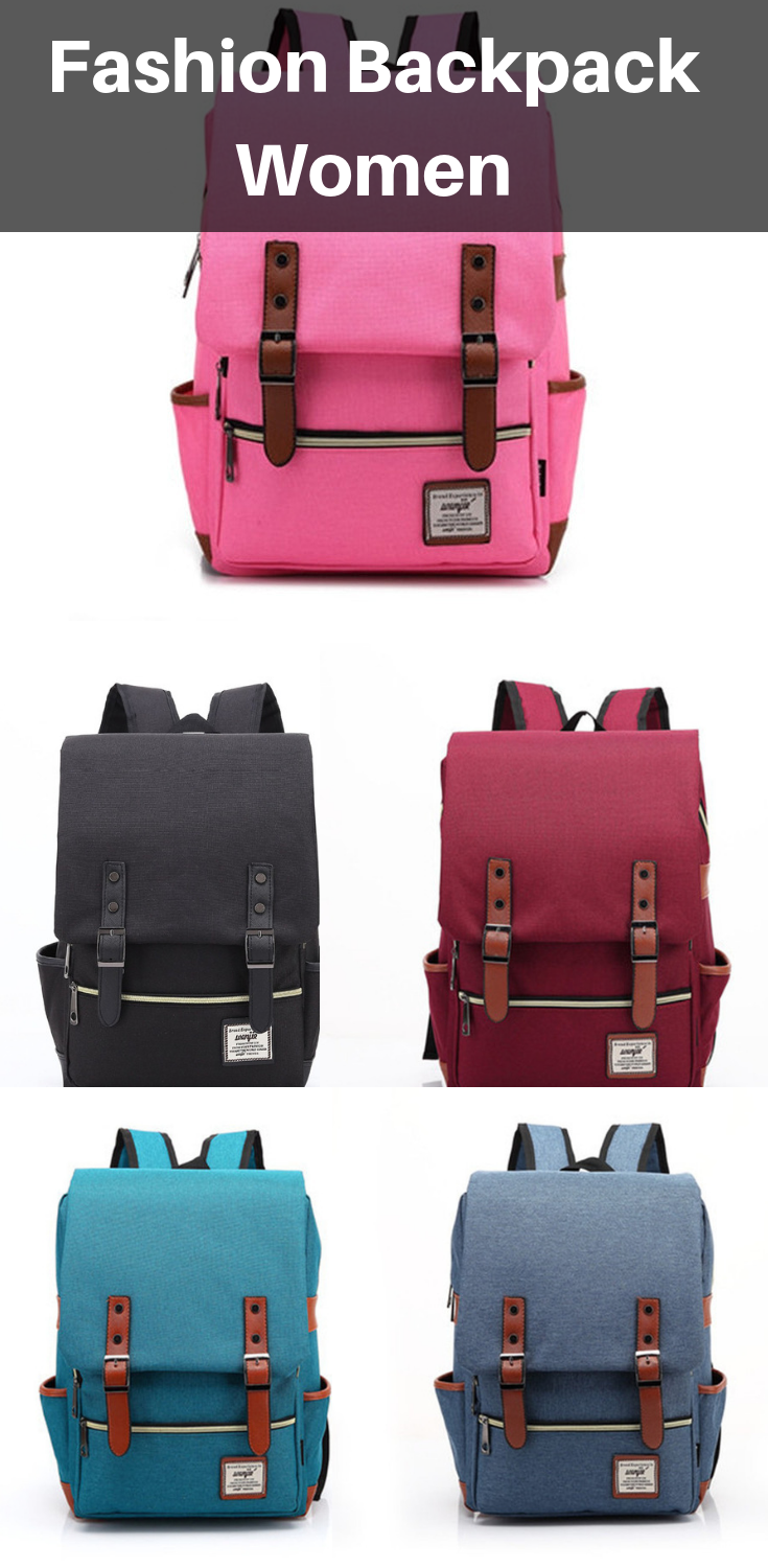 f22a7242aa Fashion Vintage Laptop Backpack Women Canvas Bags in 2018