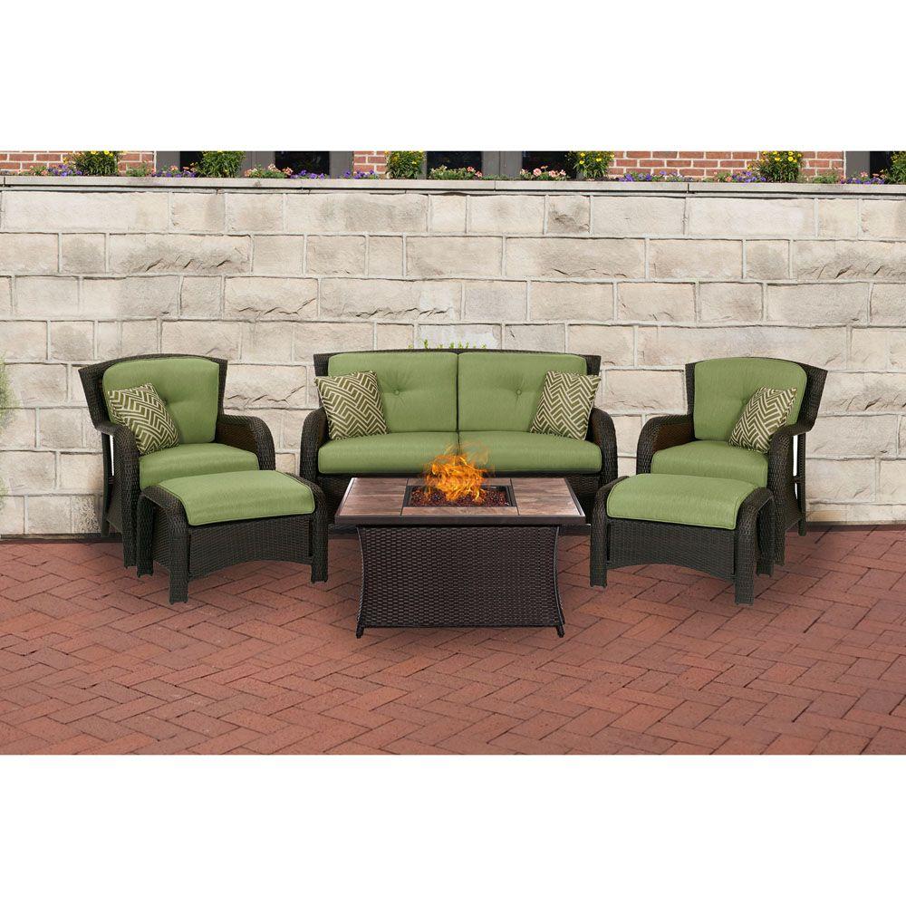 Hanover Strathmere 6Piece Lounge Set In Cilantro Green