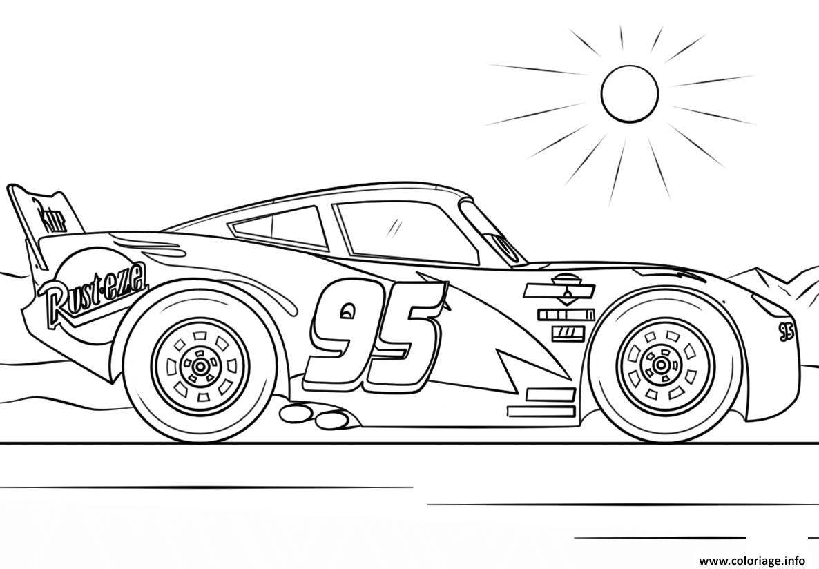 Coloriage Lightning Mcqueen From Cars 3 3 Disney