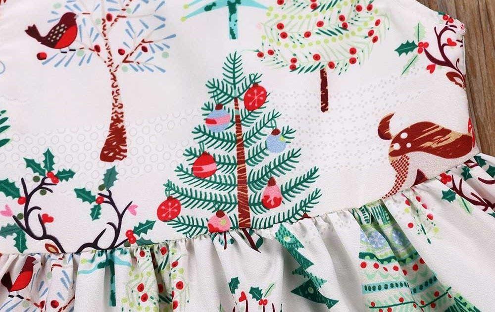 5de97b8a0 SALE Christmas DresseToddler Sleeveless Cartoon o-neck Print Dress ...