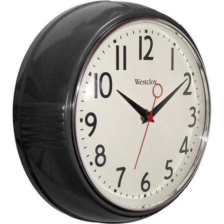 Better Homes and Gardens Retro 95 Round Kitchen Wall Clock