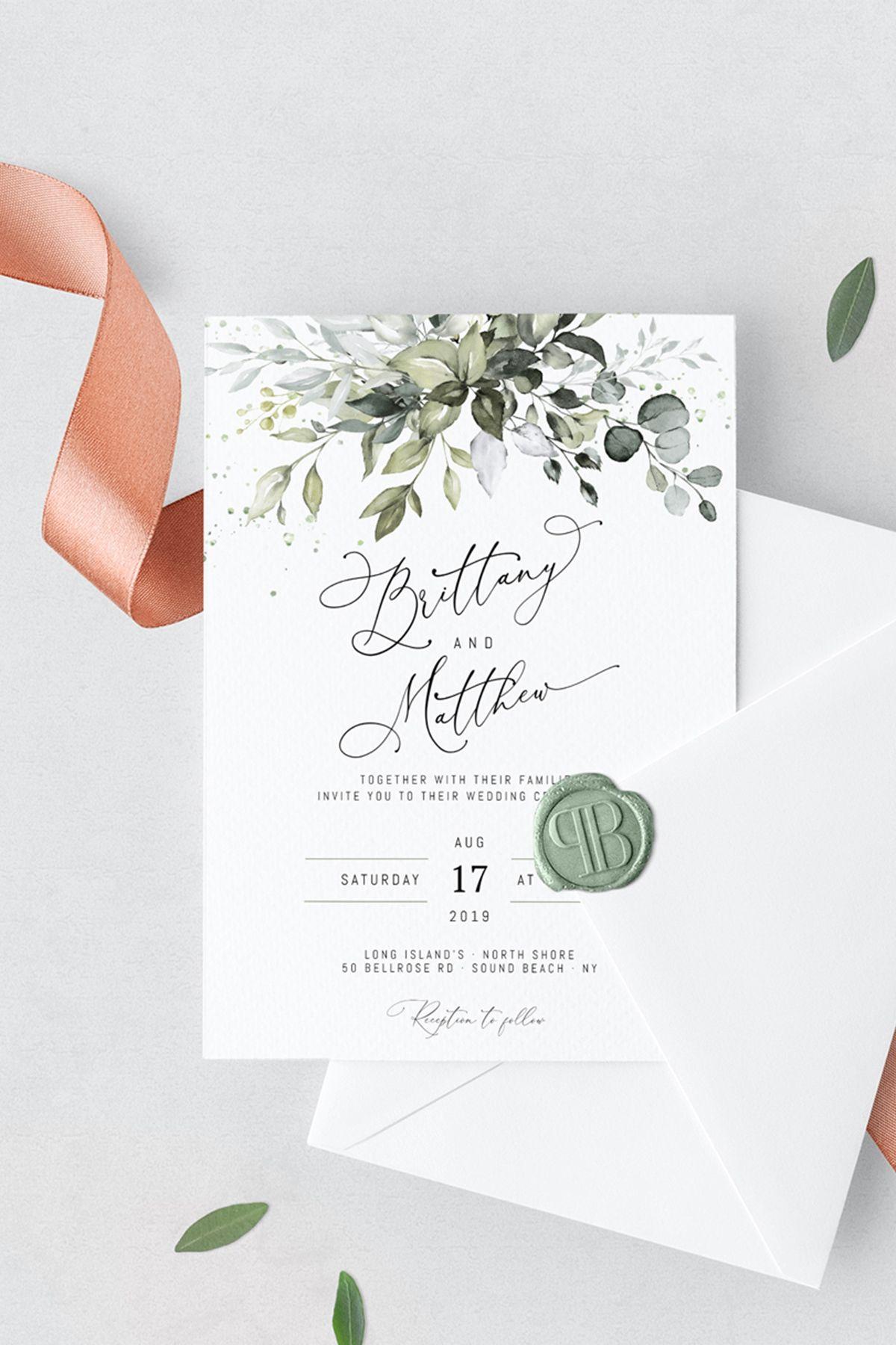 Reese Wedding Invitation Template Wedding Invite Wedding Etsy In 2020 Boho Wedding Invitation Template Wedding Invitation Templates Wedding Invitations