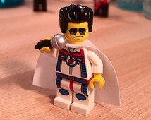 Elvis Presley Lego Custom Minifigure Art Gift