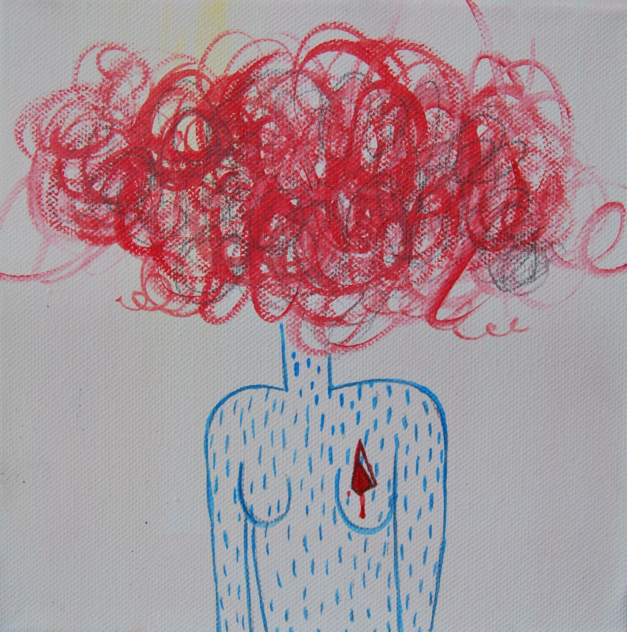 REJECTED series part 1 acrylic on canvas  20/20 cm Adriana Hristova