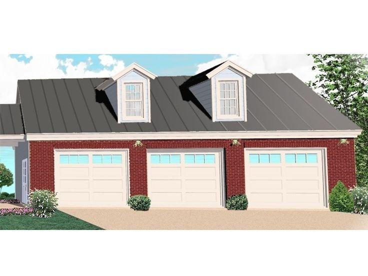 006g 0073 3 Car Garage Plan Offers Boat Storage 43 X30 3 Car Garage Plans Garage Plans Garage Plan