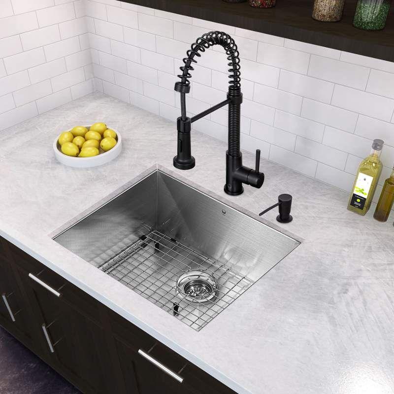 Vigo Vg15357 Stainless Steel Kitchen Sink Undermount Stainless
