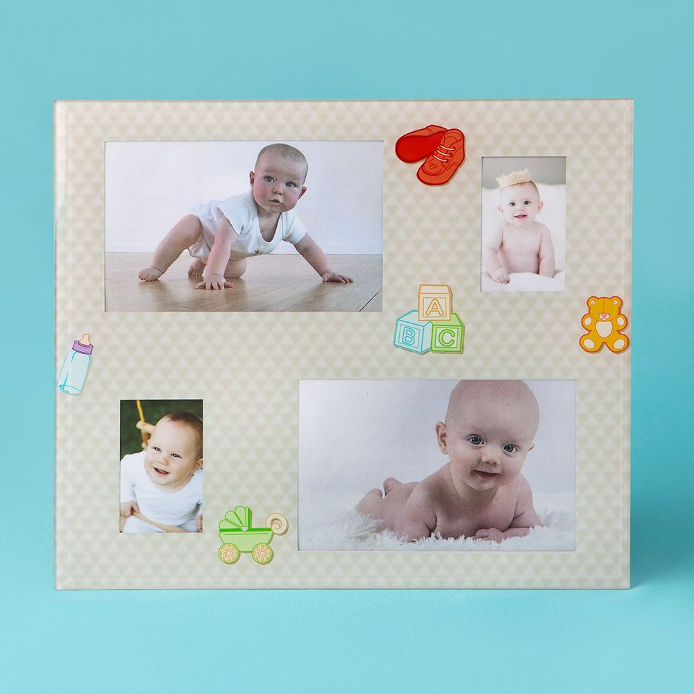 7f44f43bd804 Glass Baby Collage Frame